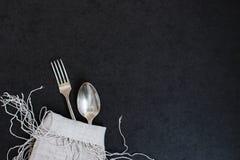 Δίκρανο και κουτάλι Στοκ εικόνες με δικαίωμα ελεύθερης χρήσης
