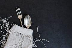 Δίκρανο και κουτάλι Στοκ φωτογραφίες με δικαίωμα ελεύθερης χρήσης