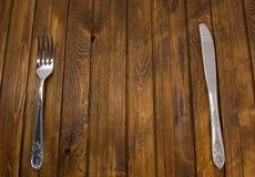 Δίκρανο και μαχαίρι Στοκ Εικόνες