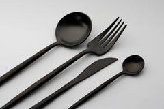 Δίκρανο, μαχαίρι και κουτάλι Στοκ Φωτογραφίες