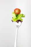 Δίκρανο με τη σαλάτα από τα λαχανικά. Στοκ εικόνες με δικαίωμα ελεύθερης χρήσης