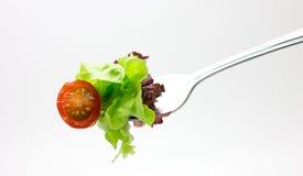 Δίκρανο με τη σαλάτα από τα λαχανικά. Στοκ Εικόνες