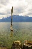 Δίκρανο στη λίμνη σε Vevey Στοκ εικόνα με δικαίωμα ελεύθερης χρήσης