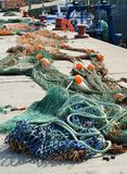 Δίκτυα αλιευτικών πλοιαρίων Στοκ φωτογραφία με δικαίωμα ελεύθερης χρήσης