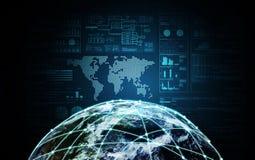 Δίκτυο Ίντερνετ μακρινού διαστήματος στοκ εικόνες