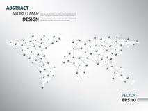 Δίκτυο αραχνών Worldmap infographic στοκ φωτογραφίες