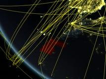Δίκτυο γύρω από δυτική Σαχάρα από το διάστημα διανυσματική απεικόνιση