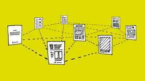 Δίκτυο εγγράφων/ανταλλαγή στοιχείων πληροφοριών απεικόνιση αποθεμάτων