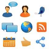 δίκτυο επικοινωνίας κο&i διανυσματική απεικόνιση