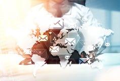 Δίκτυο ηλεκτρονικού ταχυδρομείου Στοκ Εικόνα