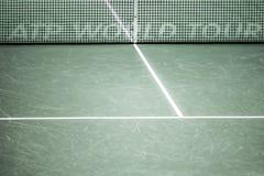 Δίκτυο και δικαστήριο παγκόσμιου γύρου ATP εσωτερικά Στοκ φωτογραφία με δικαίωμα ελεύθερης χρήσης