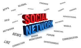 δίκτυο κοινωνικό Στοκ Εικόνα