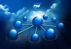 Δίκτυο μορίων και επιχειρήσεων Στοκ εικόνα με δικαίωμα ελεύθερης χρήσης