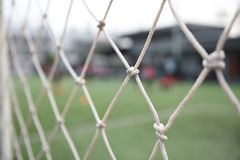 Δίκτυο ποδοσφαίρου Στοκ φωτογραφίες με δικαίωμα ελεύθερης χρήσης