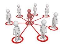 Δίκτυο συνεργατών Στοκ Εικόνες