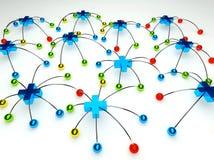 δίκτυο σύνδεσης συν κο&iota απεικόνιση αποθεμάτων