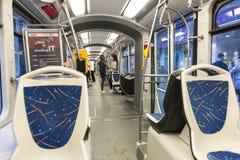 Δίκτυο τραμ του Ζάγκρεμπ, Κροατία Στοκ φωτογραφία με δικαίωμα ελεύθερης χρήσης