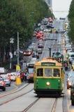 Δίκτυο τροχιοδρομικών γραμμών της Μελβούρνης Στοκ Εικόνες