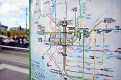 Δίκτυο τροχιοδρομικών γραμμών της Μελβούρνης Στοκ Φωτογραφίες