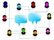 Δίκτυο των ανθρώπων ελεύθερη απεικόνιση δικαιώματος