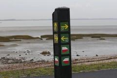 Δίκτυο των περιπάτων κατά μήκος του ολλανδικού σημαδιού ακτών Στοκ φωτογραφία με δικαίωμα ελεύθερης χρήσης