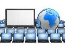 Δίκτυο υπολογιστών - απεικόνιση έννοιας Στοκ εικόνες με δικαίωμα ελεύθερης χρήσης