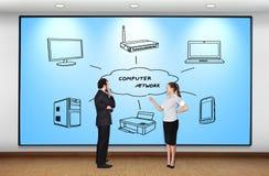 Δίκτυο υπολογιστών Στοκ φωτογραφία με δικαίωμα ελεύθερης χρήσης