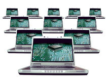 δίκτυο lap-top υπολογιστών Στοκ Φωτογραφία
