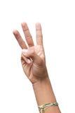 Δίνει στο μετρώντας αριθμό τρία την πορεία ψαλιδίσματος Στοκ φωτογραφία με δικαίωμα ελεύθερης χρήσης
