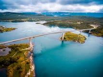Δίνες της δίνης Saltstraumen, Nordland, Νορβηγία Στοκ Φωτογραφία