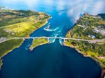 Δίνες της δίνης Saltstraumen, Nordland, Νορβηγία Στοκ εικόνες με δικαίωμα ελεύθερης χρήσης