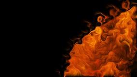 Δίνη πυρκαγιάς στο μαύρο υπόβαθρο απόθεμα βίντεο