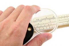 δίπλωμα της πιό magnifier φωτογραφικής διαφάνειας κανόνα Στοκ Φωτογραφίες