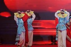 Δίπλωμα του χορού οπερών facebook-Πεκίνο χορός-εισηγητή ανεμιστήρων Στοκ Φωτογραφίες