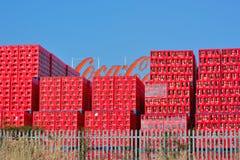 Δίσκοι κόκα κόλα, βελγικός κλάδος στη Γάνδη Στοκ φωτογραφίες με δικαίωμα ελεύθερης χρήσης