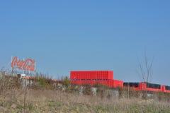 Δίσκοι κόκα κόλα, βελγικός κλάδος στη Γάνδη Στοκ εικόνα με δικαίωμα ελεύθερης χρήσης