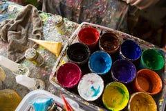 Δίσκος για τη ζωγραφική Στοκ εικόνα με δικαίωμα ελεύθερης χρήσης