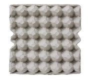 Δίσκος εγγράφου για το αυγό που απομονώνεται στο λευκό Στοκ Εικόνα