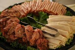 Δίσκος κρέατος Deli Στοκ εικόνες με δικαίωμα ελεύθερης χρήσης
