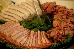 Δίσκος κρέατος Deli Στοκ εικόνα με δικαίωμα ελεύθερης χρήσης