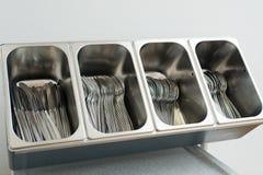 Δίσκος με τα μαχαιροπήρουνα Στοκ Φωτογραφία