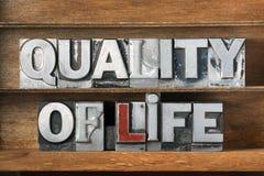 Δίσκος ποιότητας ζωής Στοκ φωτογραφία με δικαίωμα ελεύθερης χρήσης