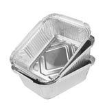 Δίσκος φύλλων αλουμινίου για τα τρόφιμα στοκ εικόνα