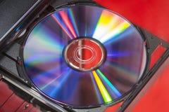 Δίσκος DVD στο φορέα Στοκ Εικόνες