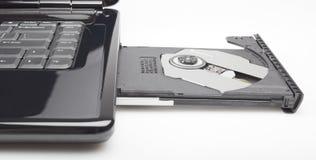 δίσκος lap-top υπολογιστών Cd Στοκ Εικόνα