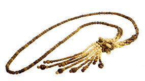 Δίχρωμα ξύλινα κοσμήματα στοκ φωτογραφία