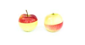 Δίχρωμα τεμαχισμένα μήλα Στοκ Εικόνες