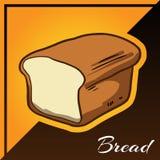 Δίχρωμο υπόβαθρο αρτοποιείων με το διάνυσμα ψωμιού Στοκ Εικόνα