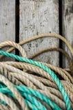 Δίχτια του ψαρέματος και επιπλέοντα σώματα Στοκ φωτογραφία με δικαίωμα ελεύθερης χρήσης