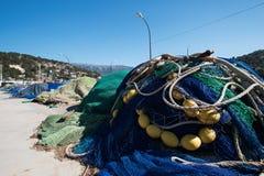 Δίχτια του ψαρέματος σε μια αποβάθρα Στοκ φωτογραφία με δικαίωμα ελεύθερης χρήσης